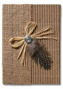 African Traditional invitations African hessian invites - R39 each