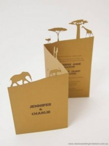 African Traditional invitations African laser cut invites - R65 each