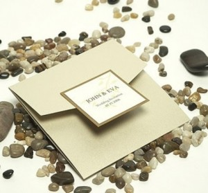 African Traditional invitations Square Sand colour invites - R55 each