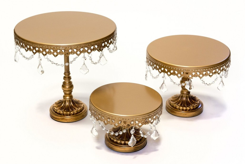 Opulent Treasures White Cake Stand