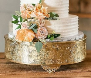 Gold in boss cake stand R475 Each