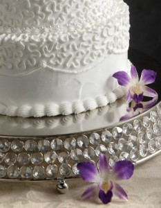 Silver crystal bead cake stand Medium R375 large R575