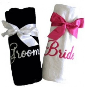 33 - Just married swimming towels @ R280 each