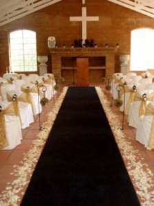 Carpet Rentals Black aisle carpet - 10m – R775 rental price