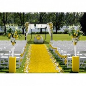 Carpet Rentals Yellow aisle carpet – 15m – R1500 rental price