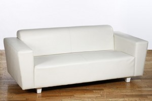 5 - White Leather couches – R1399 each