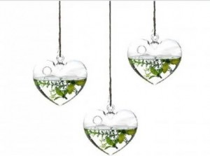 Heart Products Glass hanging hearts - R79