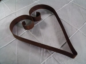 Heart Products Rustic flat bar rustic hearts – R55 each