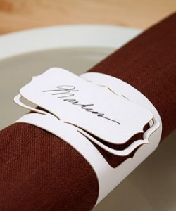 8. Laser cut napkin rings from R8 each 8. Laser cut napkin rings from R8 each