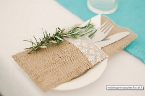 Linen Rentals 11 - Hessian Cutlery pocket – R8 to hire - R26 to buy