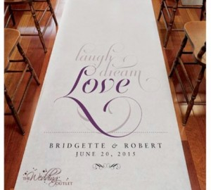 Printed Aisle Runners 1 - White 15m aisle runner with printing - R2000 to buy!