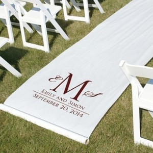 Printed Aisle Runners 2 - White 10m aisle runner with printing – R2200 to buy!