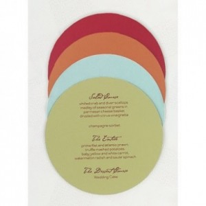 Round menus for R18 each