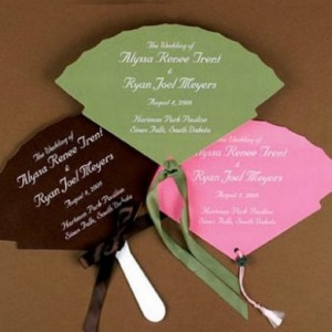 Wedding Fans – R29 to R69 each