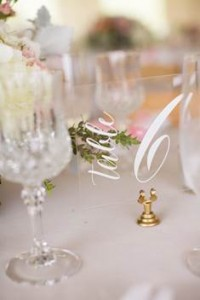 Clear Perspex table numbers  - R49