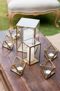 Gold and glass terrariums assorted sizes