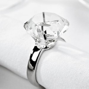 Crystal Ring napkin rings R8 each to hire