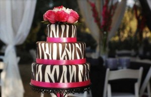 Traditional African Wedding Cakes 5 - Zebra African cake – R3990