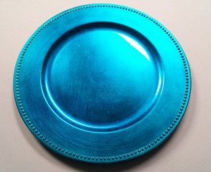 25 - Underplates for Hire Aqua blue underplates - R10.90 each