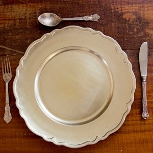 35 - Silver Victorian under plates R12 each, King and queen cutlery R18.95 per piece