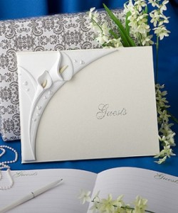 Wedding Guestbooks 9- Arum lily guestbooks – R250 each